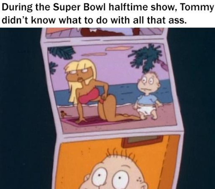 Tommy during Superbowl halftime meme
