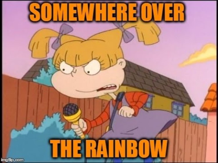 Somewhere over the rainbow meme