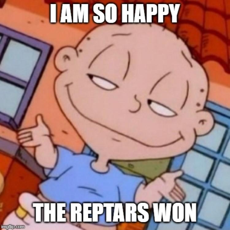 So happy the reptars won