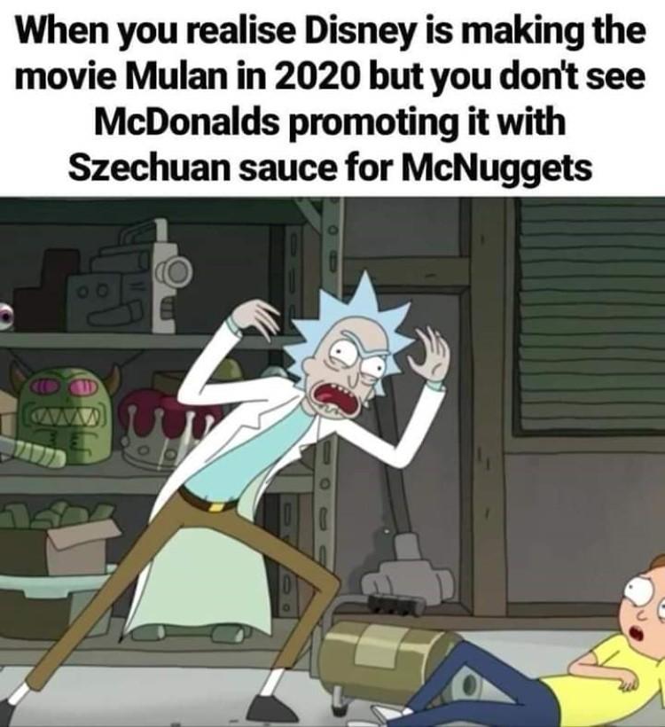 Disney new Mulan no sauce