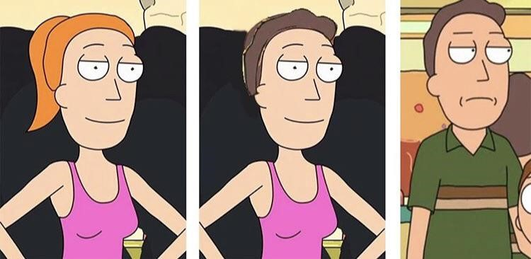 Summer and Jerry same face meme