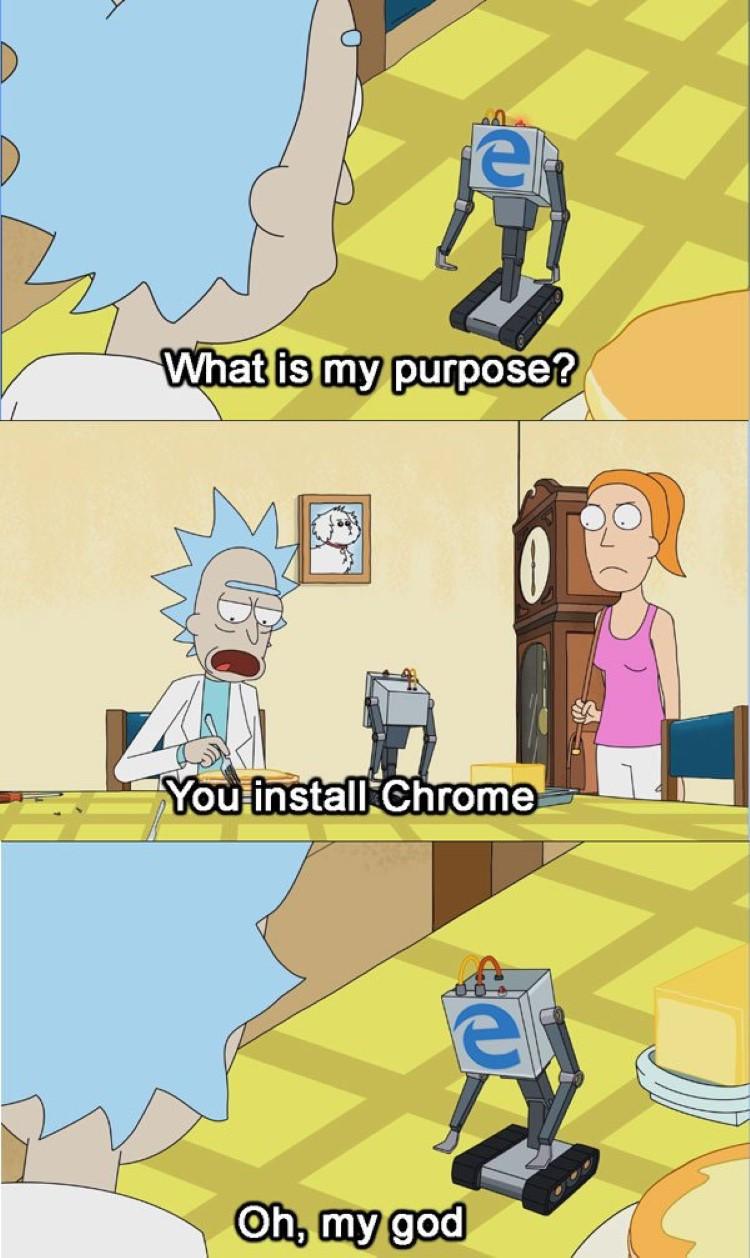 Edge what is my purpose meme