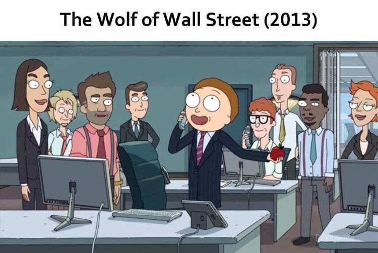 Wolf of Wall Street meme Morty
