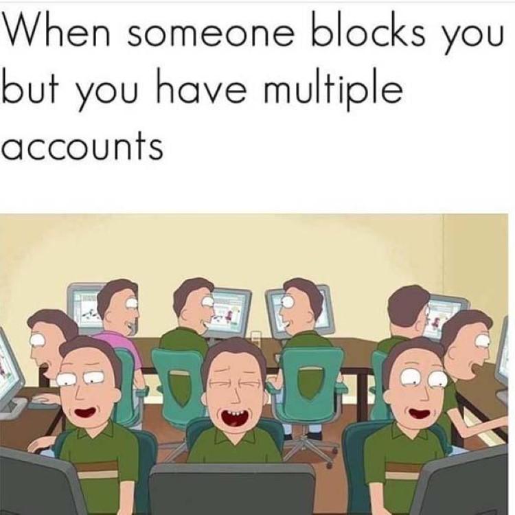 Some blocks all your accounts joke