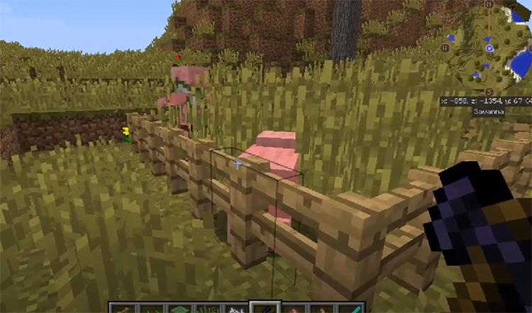 SwingThroughGrass Minecraft mod