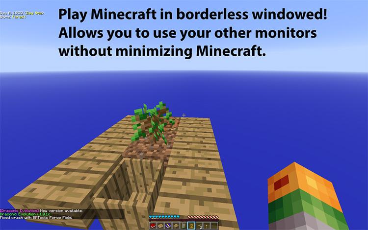 Fullscreen Windowed Minecraft mod