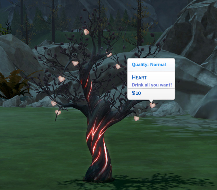 Harvestable Heart Tree Sims4