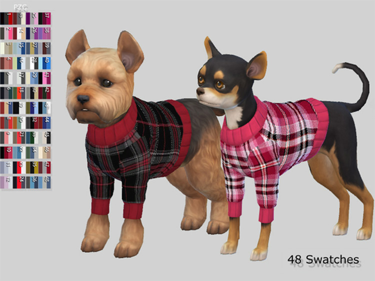 Small Dog Burberry Sweaters Sims4