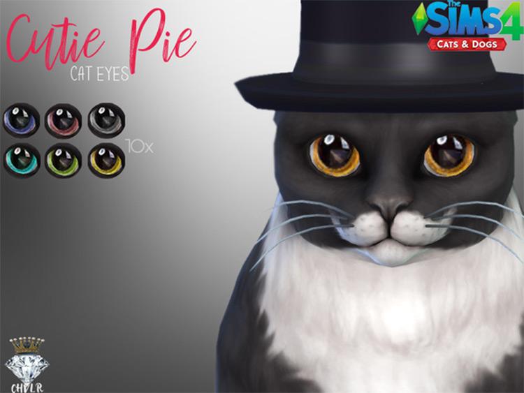 Cutie Pie Cat Eyes Sims4 mod