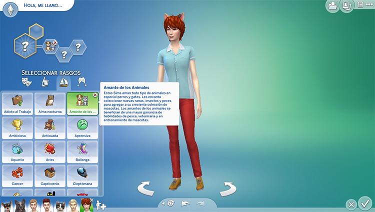 Animal Lover Custom Trait in Sims4