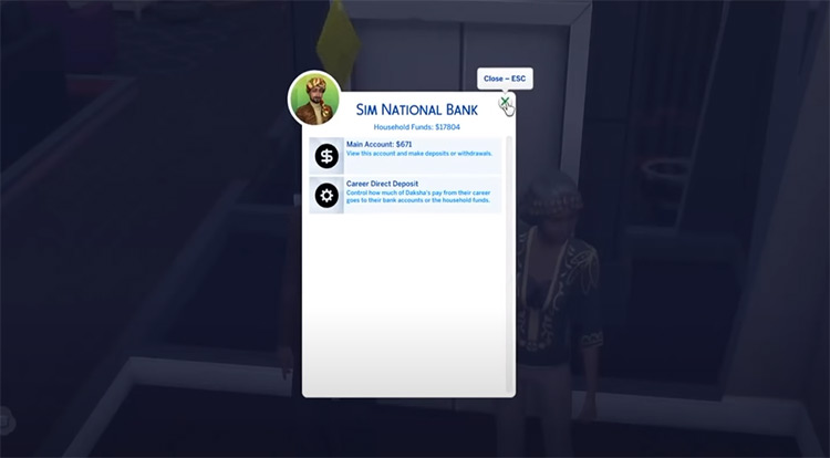 Sim National Bank Sims4 mod