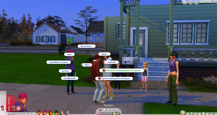 Realistic Reactions Sims4