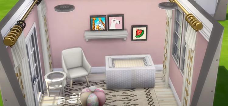 Sims4 custom wallpaper CC pack