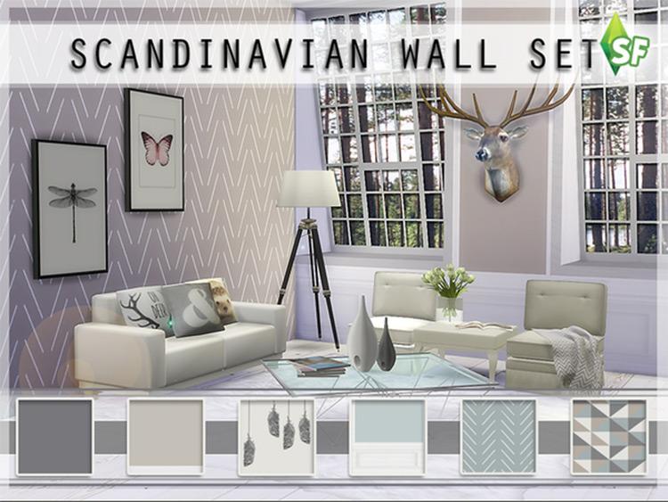 Scandinavian Basics Wall Set Sims4