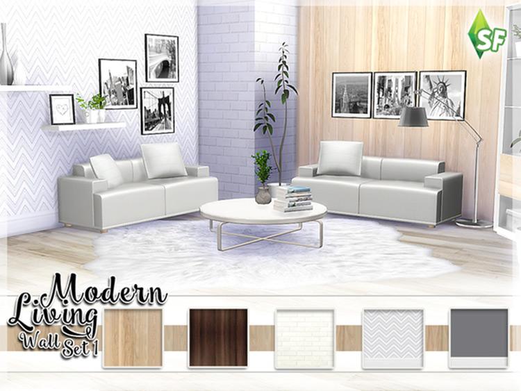 Modern Living Walls Sims4