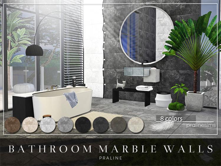 Bathroom Marble Walls in Sims4