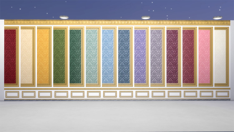 Salon des Nobles Wall Covering in Sims4