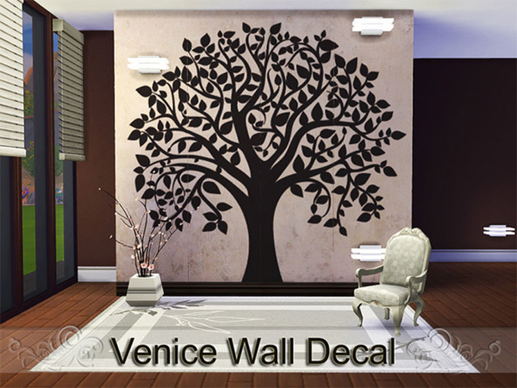 Venice Wall Decal in Sims4
