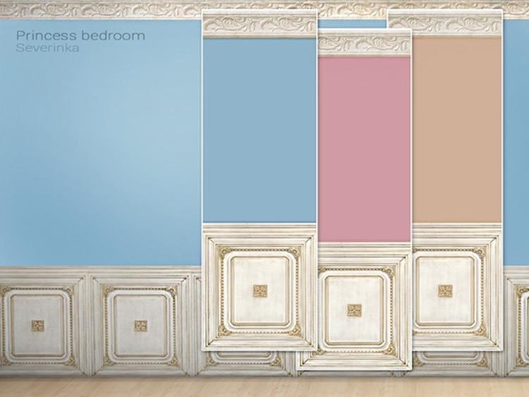 Princess Bedroom Walls Sims4 CC