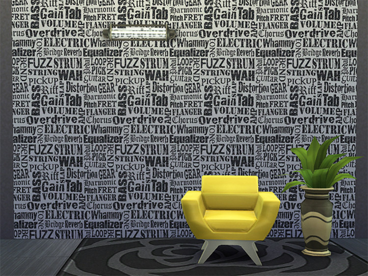 Text Walls CC for Sims4