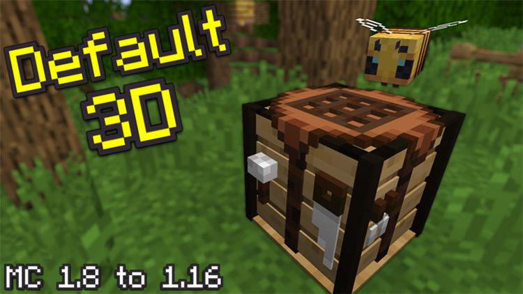 Default 3D texture pack in Minecraft