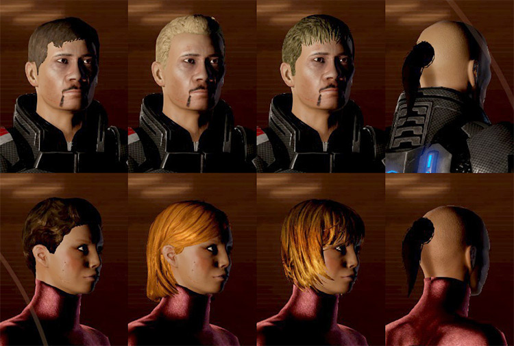 More Hair ME2 mod
