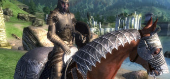 Horse and armor screenshot of Oblivion modded