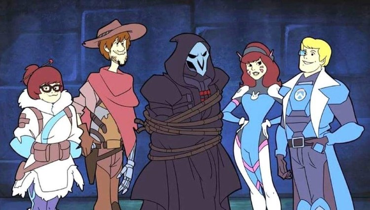 Overwatch Scooby Doo team dressed up