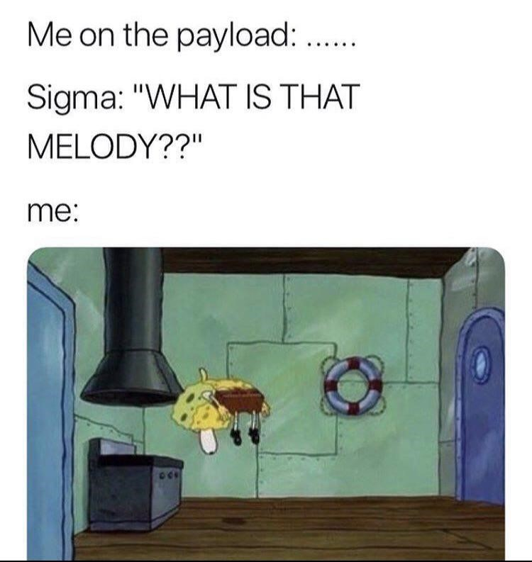 What is that melody SpongeBob floating joke