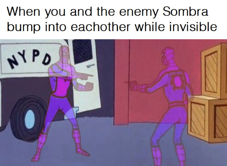 Enemy Sombra bump into eachother