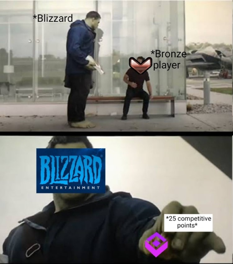 Blizzard bronze players meme