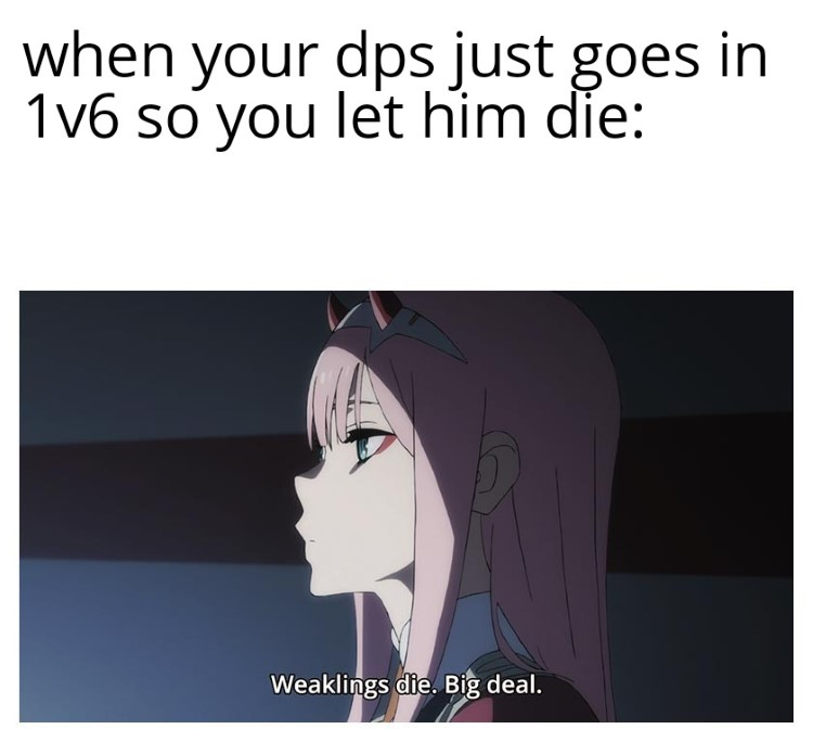 Weaklings die, big deal meme