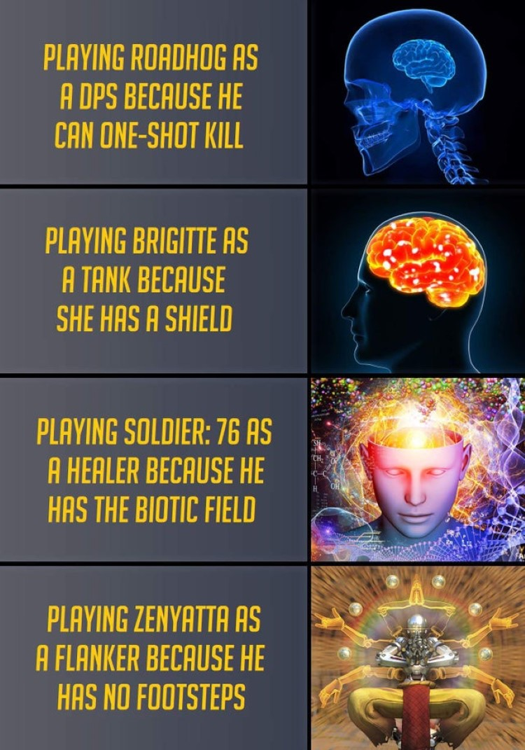 Playing Zenyatta flanker meme