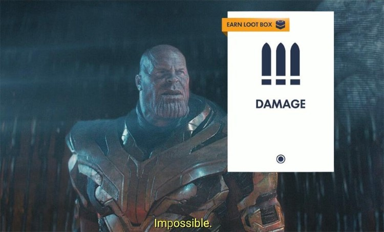 Impossible lootbox meme