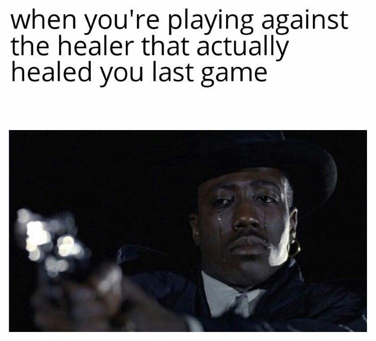 Playing against healer meme