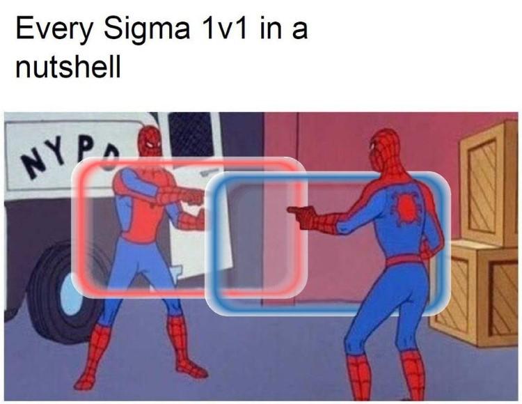 Every Sigma 1v1 meme