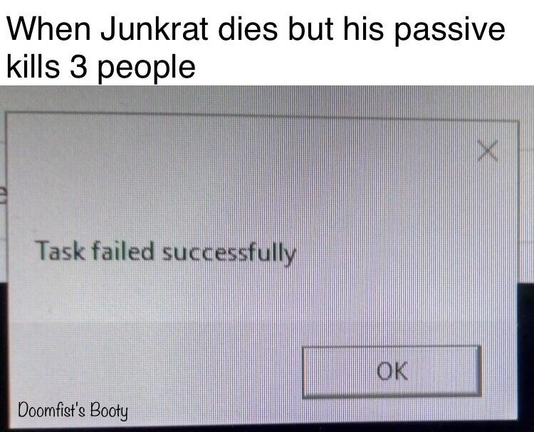 Junkrat dies meme