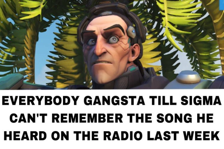 Everybodys gangsta till Sigma cant remember the song on radio