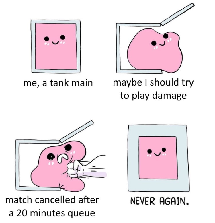 Match cancelled after 20mins queue meme