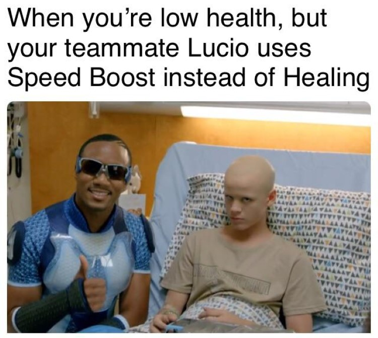 Low on health Speed Boost meme