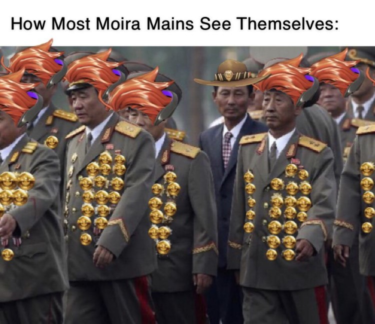 Text: How Most Moira Mains See Themselves meme