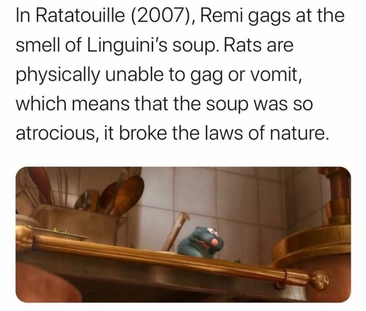 Remi gags somehow, yet rats cant gag