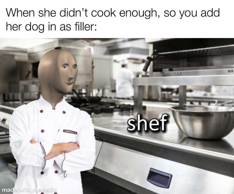 kalm chef meme