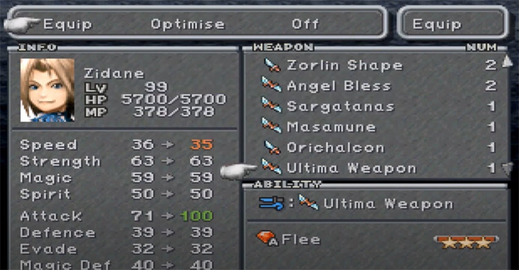 The Ultima Weapon in Final Fantasy 9