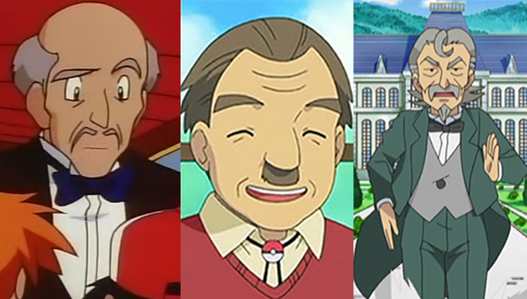 Hopkins, Mr. Cheeves and Sebastian in Pokémon anime