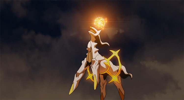 Arceus Pokémon anime screenshot