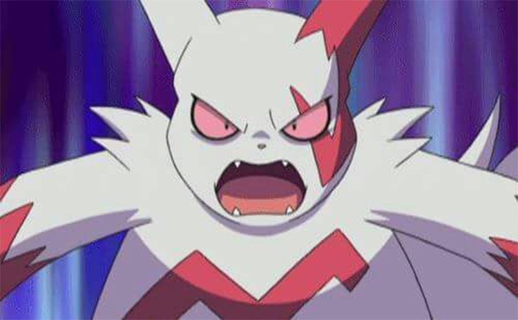Zangoose Pokémon anime screenshot