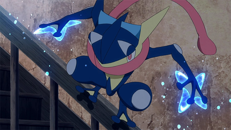 Greninja Pokémon screenshot from anime