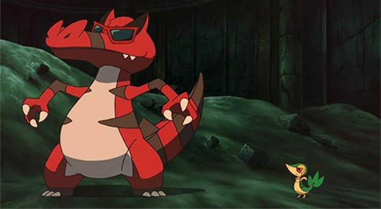 Krookodile Pokémon anime screenshot