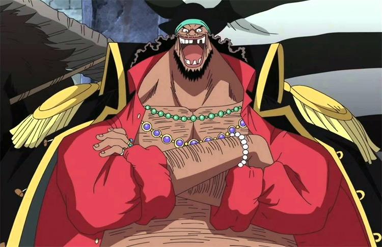Marshall D. Teach de One Piece los mejores personajes gordos